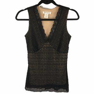 White House Black Market Black Lace Sleeveless Top
